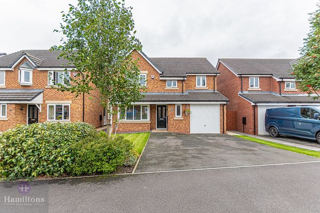 Thumbnail Detached house for sale in Beckfield Close, Leigh, Greater Manchester.