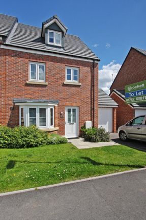 Thumbnail Semi-detached house to rent in Reedmace Walk, Newcastle-Under-Lyme
