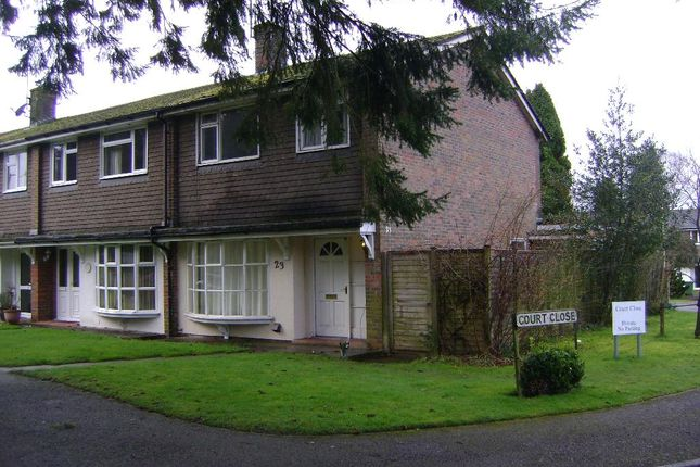 Thumbnail End terrace house to rent in Court Close, Liphook