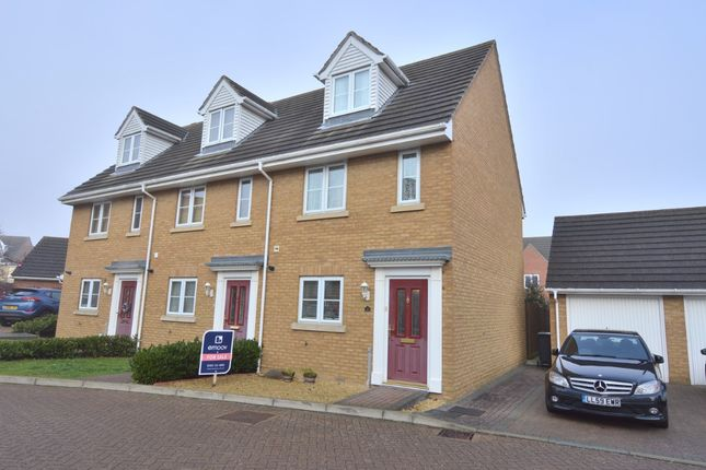 Thumbnail End terrace house for sale in Rowan Way, Dunmow