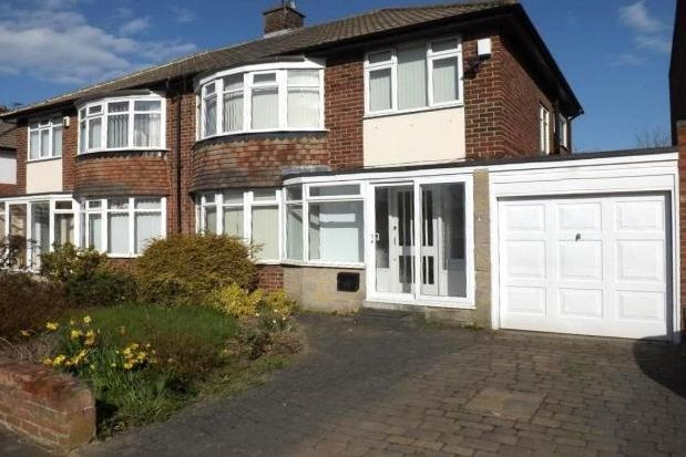 Thumbnail Semi-detached house to rent in Montagu Avenue, Gosforth, Newcastle Upon Tyne