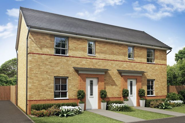 "Thumbnail Semi-detached house for sale in ""Amber"" at Woodcock Square, Mickleover, Derby"