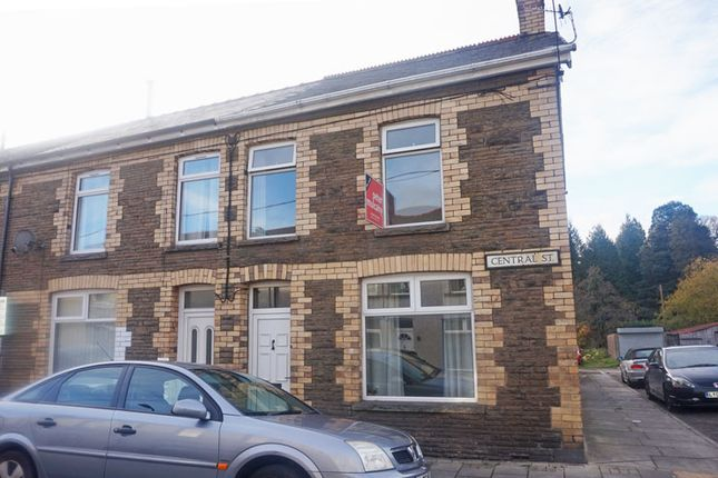 Thumbnail End terrace house for sale in Central Street, Ystrad Mynach