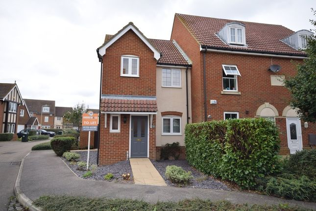 Thumbnail End terrace house to rent in Barley Way, Kingsnorth, Ashford