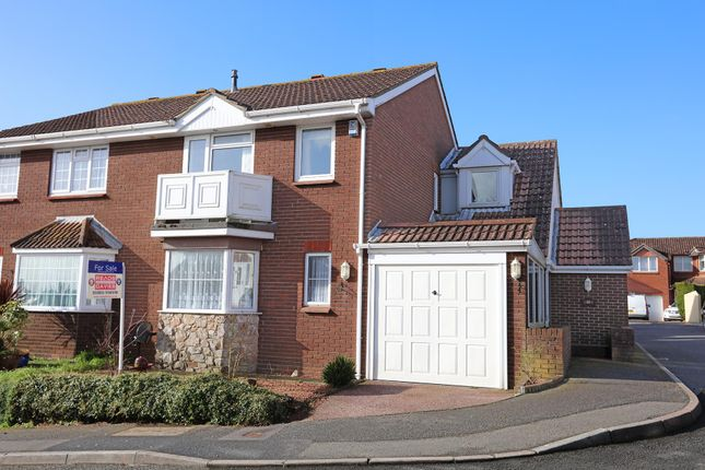 Thumbnail Semi-detached house for sale in Treesdale Close, Paignton