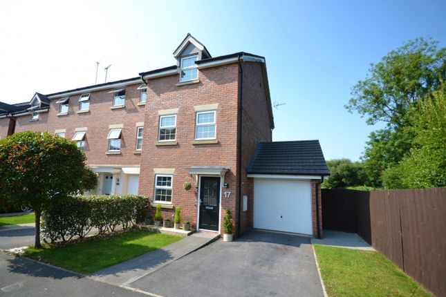 Thumbnail End terrace house for sale in Moss Chase, Macclesfield