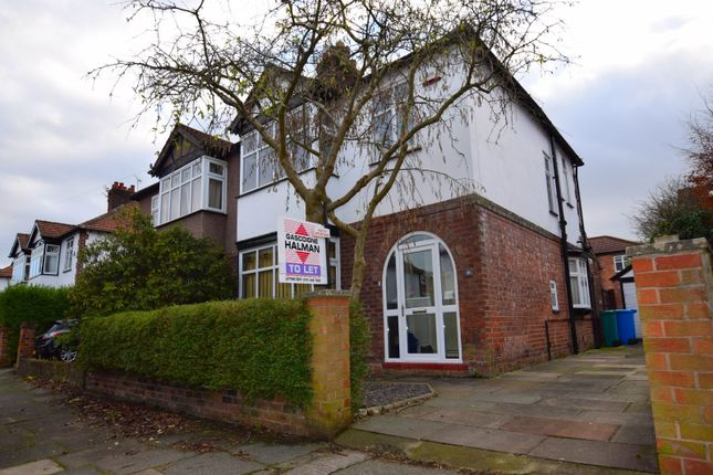Thumbnail Semi-detached house to rent in Adria Road, Didsbury, Manchester
