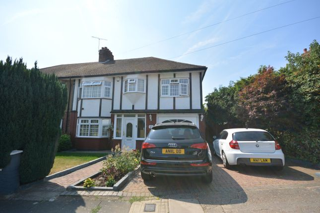 Thumbnail Semi-detached house for sale in The Ridgeway, Harold Wood, Romford