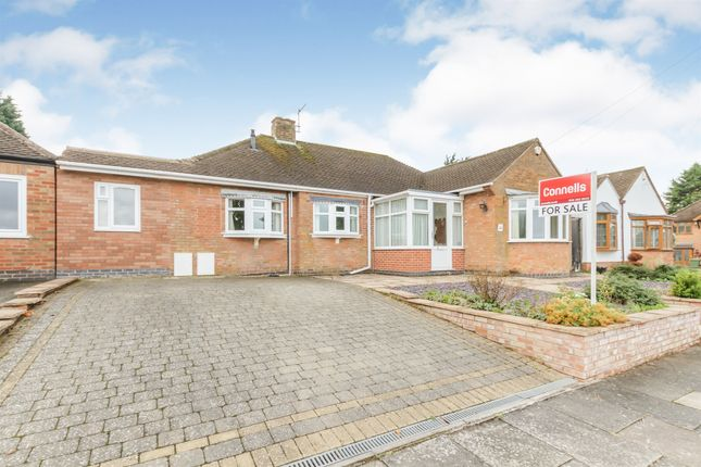 Thumbnail Detached bungalow for sale in Brent Knowle Gardens, Leicester