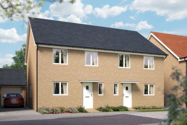 "Thumbnail Semi-detached house for sale in ""The Salisbury"" at Valerian Gardens, Soham, Ely"