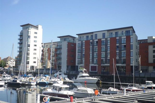 Thumbnail Flat for sale in Meridian Wharf, Marina, Swansea