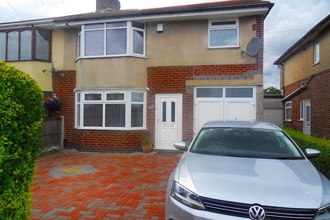 Thumbnail Semi-detached house to rent in Huntley Avenue, Spondon, Derby