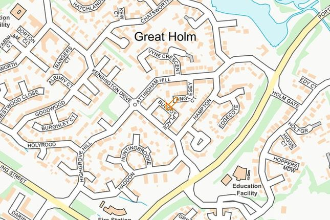 Street Map of Buscot Place, Great Holm, Milton Keynes MK8