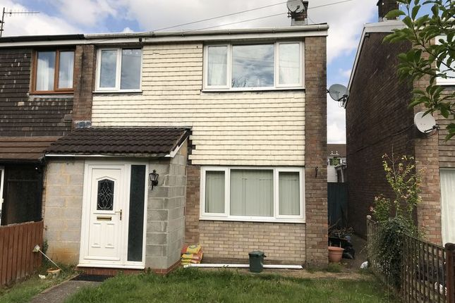 Thumbnail Semi-detached house to rent in Larch Grove, Caerphilly