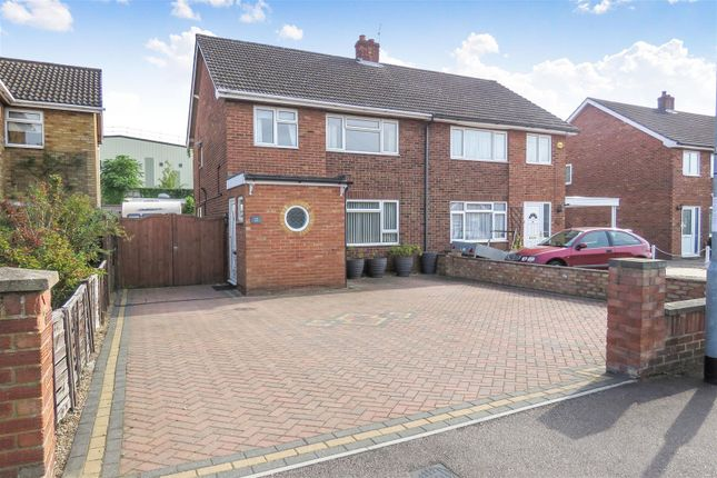Thumbnail Semi-detached house for sale in Holme Court Avenue, Biggleswade