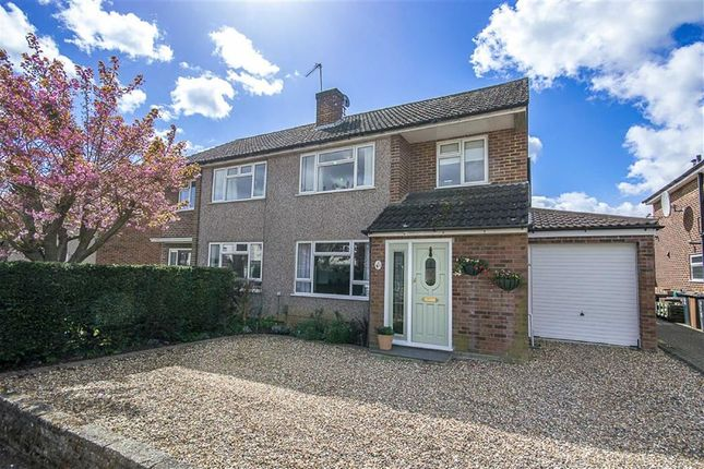 Thumbnail Semi-detached house for sale in Cowper Crescent, Bengeo, Herts