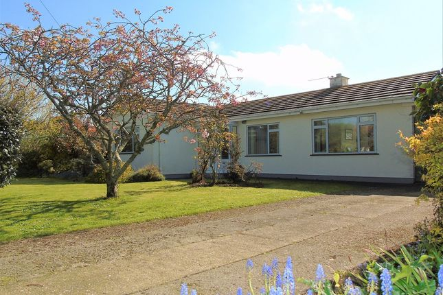 Thumbnail Detached bungalow for sale in St Johns Corner, Rosudgeon, Penzance, Cornwall.