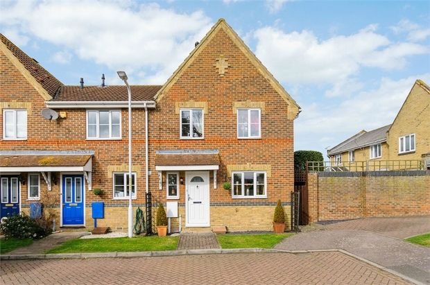 Thumbnail End terrace house for sale in Moyes Close, Cliffsend, Ramsgate