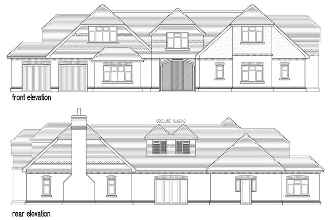 Proposed Front & Rear Elevations