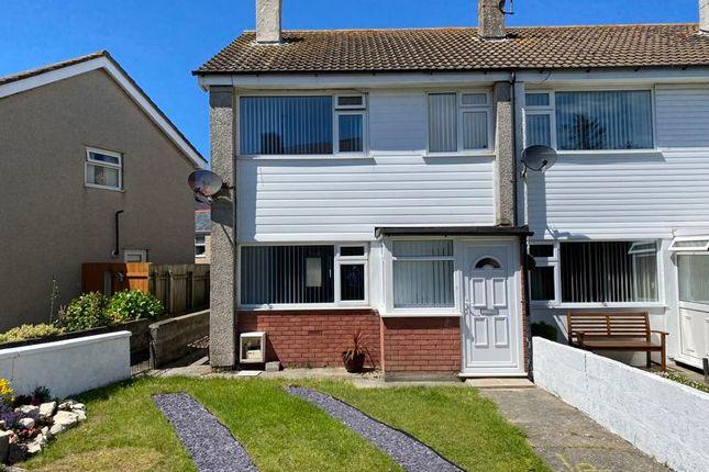 Thumbnail End terrace house for sale in Llain Delyn, Holyhead