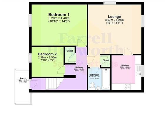 Floor Plan of Penwortham Hall Gardens, Preston PR1