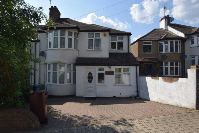 Thumbnail Semi-detached house to rent in Woodcroft Avenue, Stanmore