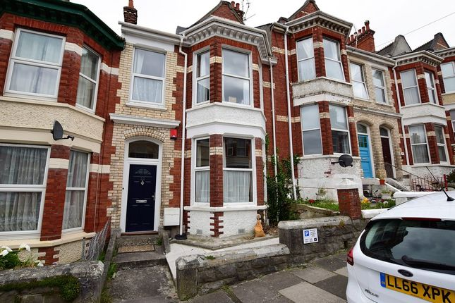 Thumbnail Terraced house for sale in Hamilton Gardens, Mutley, Plymouth