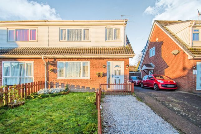 Thumbnail Semi-detached house for sale in Oxwich Close, Cefn Hengoed, Hengoed