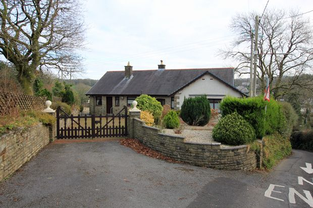 Thumbnail Detached bungalow for sale in Heol Cwmbach, Drefach, Nr. Cross Hands, Carmarthenshire