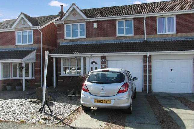 Thumbnail Semi-detached house for sale in Dearham Grove, Cramlington