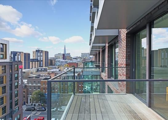 Balcony of Cashmere House, Leman Street, London E1
