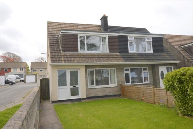 Thumbnail Semi-detached house for sale in Aneray Road, Camborne, Cornwall