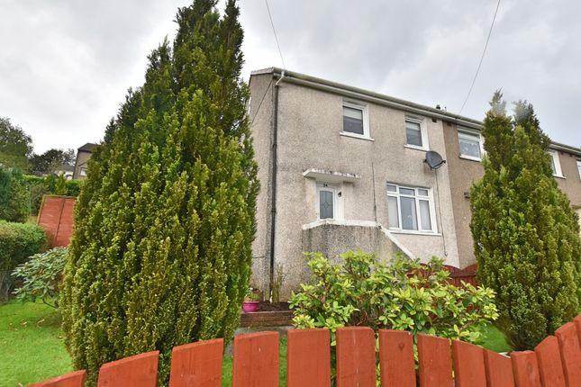 Thumbnail 2 bed end terrace house for sale in Braeside Lane, Greenock