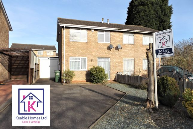 Thumbnail 3 bed semi-detached house to rent in Walnut Drive, Cannock