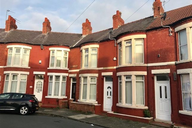 Thumbnail Terraced house to rent in Hallville Road, Wallasey