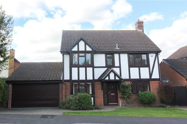 Thumbnail Detached House For Sale In Throgmorton Road Yateley Hampshire