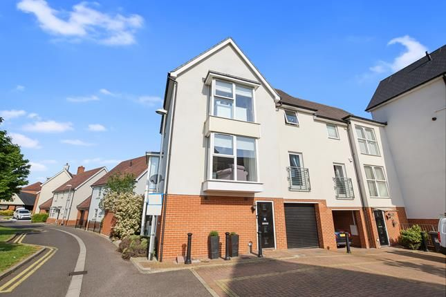 Thumbnail End terrace house for sale in Montfort Drive, Chelmsford, Essex
