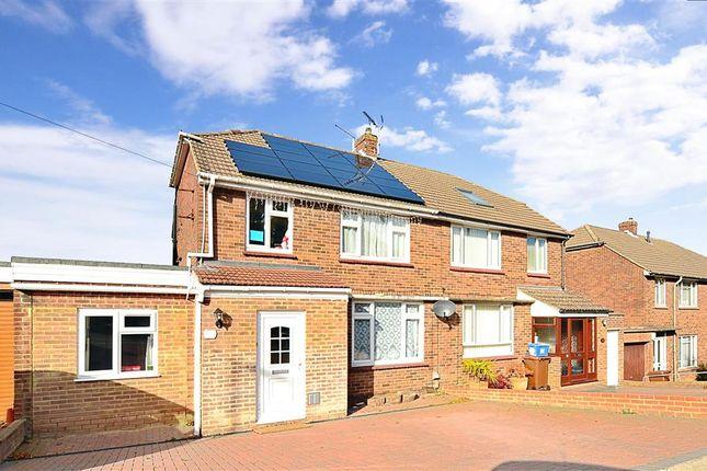 4 bed semi-detached house for sale in Snodhurst Avenue, Walderslade, Chatham, Kent