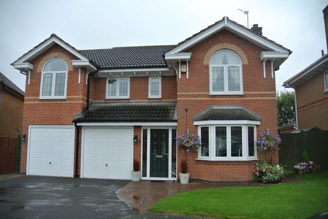 Thumbnail Detached house for sale in Yew Close, Leicester Forest East