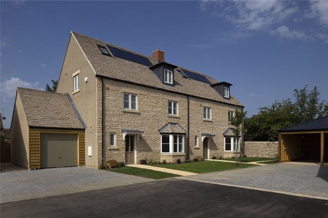 Thumbnail Semi-detached house for sale in Applegarth Court, Witney, Oxfordshire
