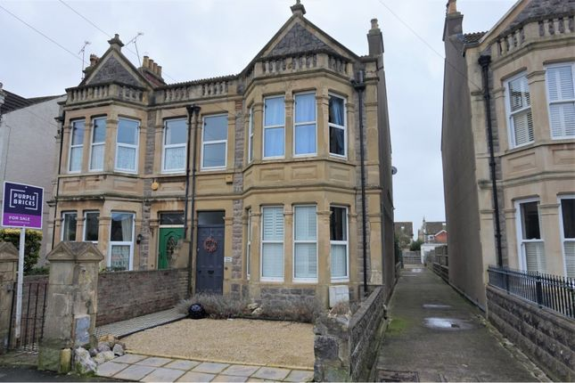 Thumbnail Semi-detached house for sale in Quantock Road, Weston-Super-Mare