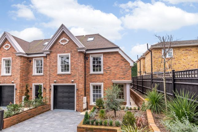 Thumbnail End terrace house for sale in Cavendish Road, St. Georges Hill, Weybridge