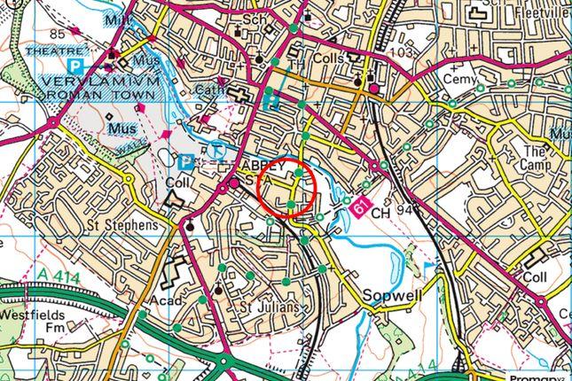 Plotmap of Prospect Road, St. Albans, Hertfordshire AL1