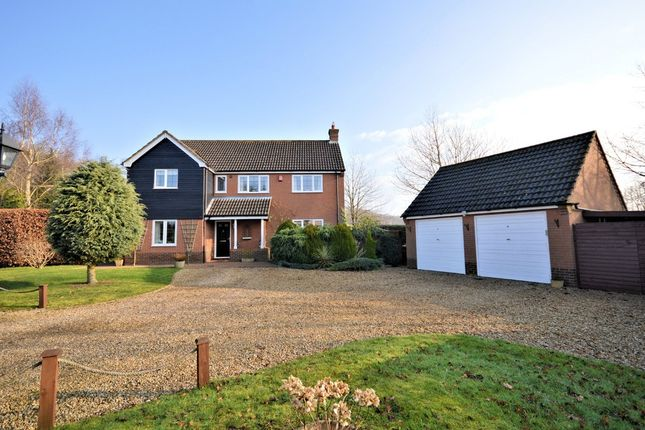 Thumbnail Detached house for sale in Fakenham Road, Beetley, Dereham