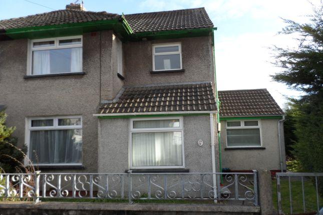 Thumbnail Semi-detached house to rent in Chestnut Way, Bridgend