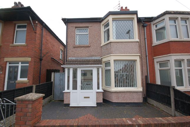 Thumbnail Semi-detached house to rent in Harcourt Road, Blackpool