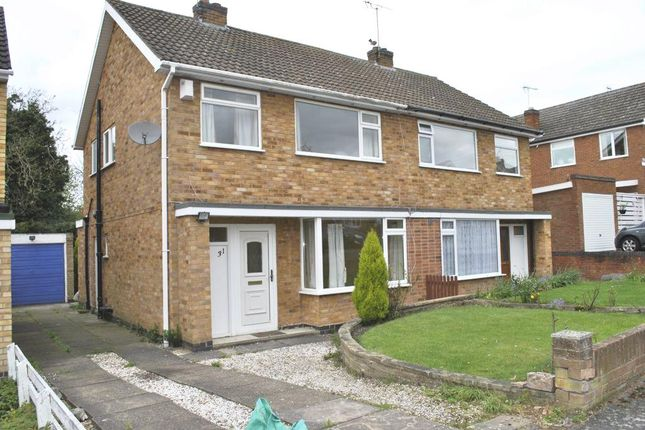 Thumbnail Semi-detached house to rent in Somerby Drive, Oadby