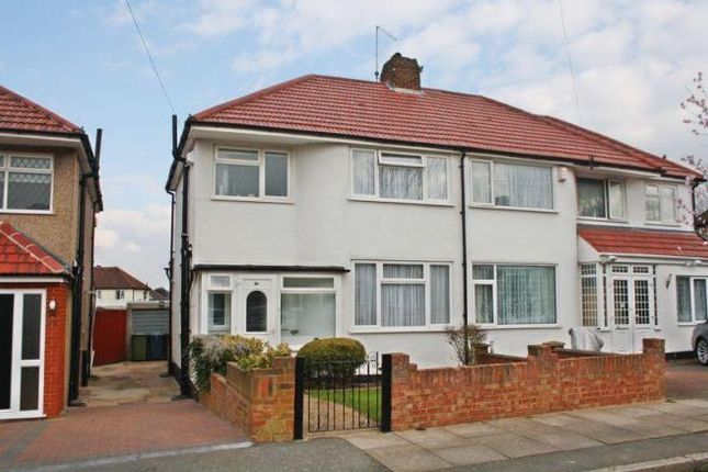 Thumbnail Semi-detached house to rent in Warwick Avenue, South Harrow