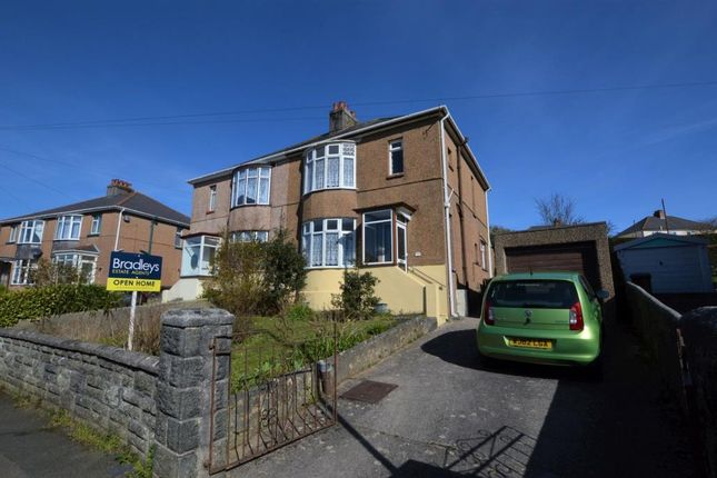 Thumbnail Semi-detached house for sale in Oakfield Road, Plymouth, Devon