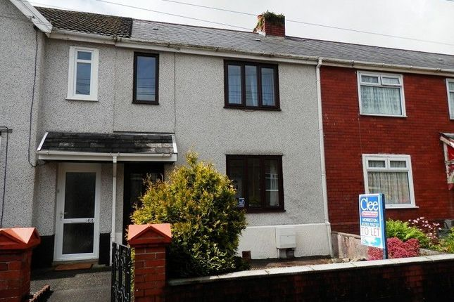 Thumbnail Terraced house to rent in Faraday Road, Clydach, Swansea.